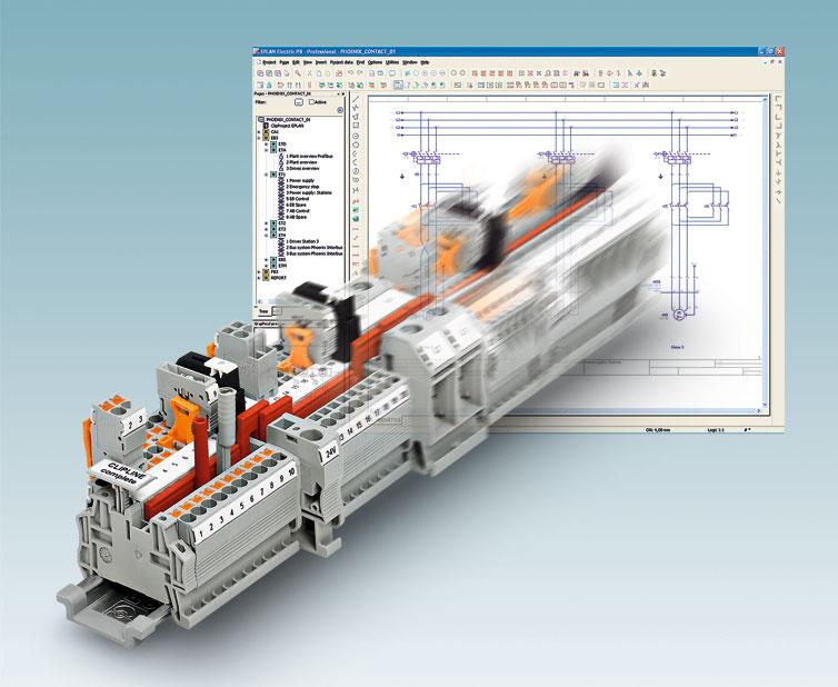 Oprogramowania Clip Project oferuje wygodne interfejsy do systemów CAE oraz automatyczne projektowanie listew zaciskowych i etykiet.
